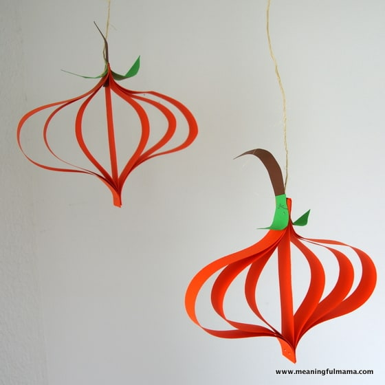Pumpkin Paper Crafts