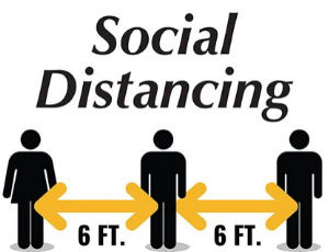 Webster Printing Social Distancing Sign