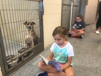 project apollo - child reading to dog 2