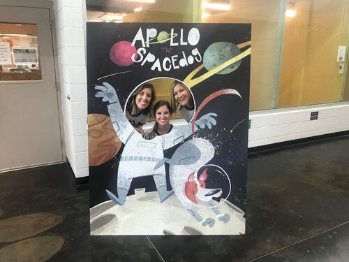 Leslie, Emilee, and Karin at Apollo event